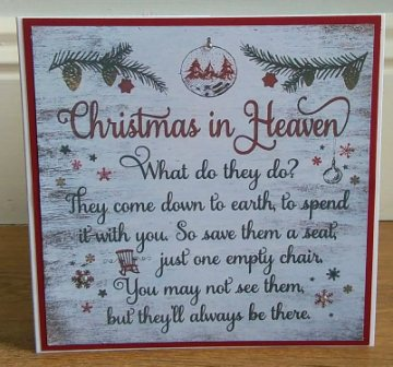 home christmas christmas in heaven christmas card