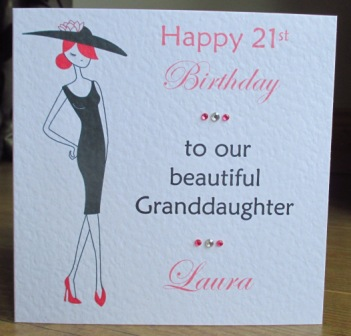 Home Birthdays Special Age 1st 18th 40th Etc Elegant Woman Personalised 21st 30th Birthday Card